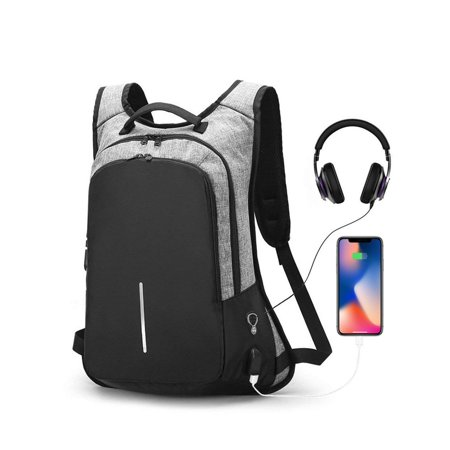 EEEkit College Laptop Backpack Water Resistant Anti-Theft Bag with USB Charging Port and Lock 14/15.6 Inch Computer Business Backpacks for Women Men Student, Bookbag Casual Travel Daypack (Best Business Bag Brands)