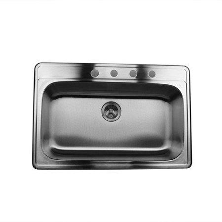 Nantucket sinks 33 39 39 x 22 39 39 single bowl stainless steel kitchen sink - Walmart kitchen sinks ...