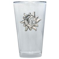Celestial Pint Glass by Heritage Metalworks
