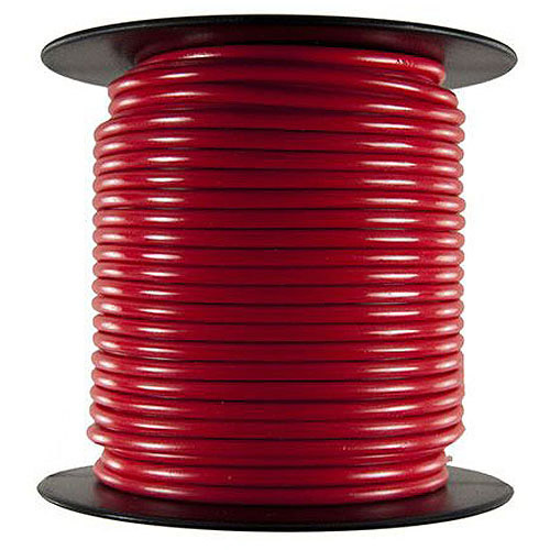 JT&T Products 102C 10 AWG Red Primary Wire, 100' Spool