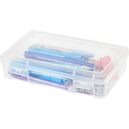IRIS Medium Modular Plastic Supply Case, Clear Set of 10