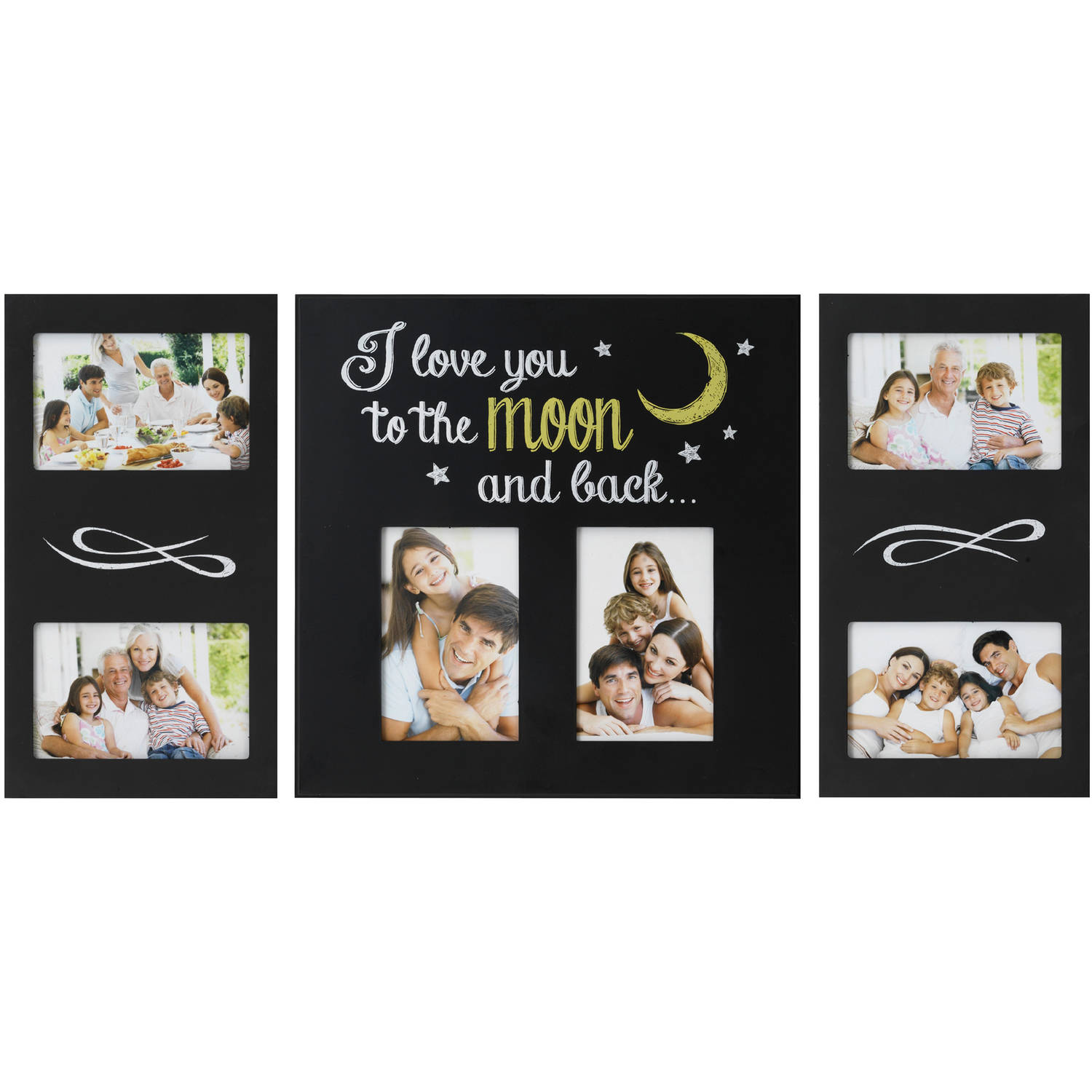 Melannco 6-Opening I Love You To The Moon And Back Collage, Set of 3