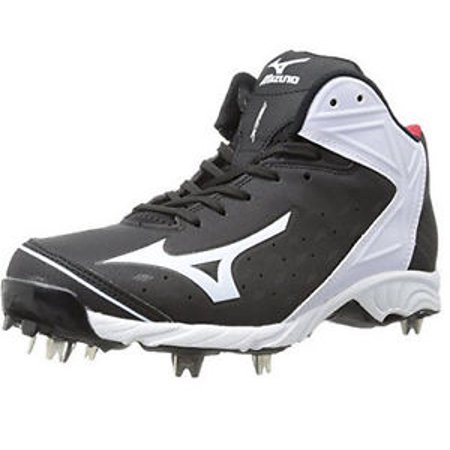New Mizuno 9 Spike Adv. Swagger 2 Size Mens 13 Baseball Cleat Metal Blk/White