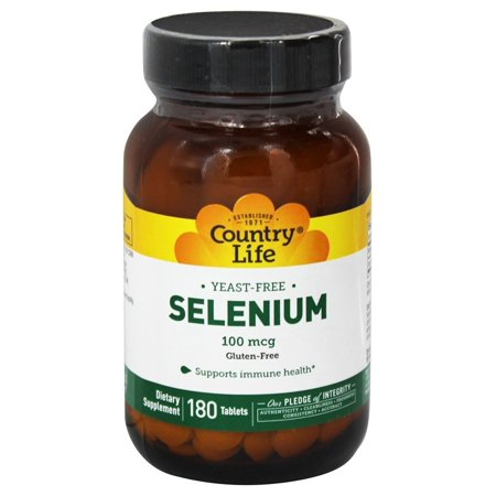 Country Life - Selenium L Selenomethionine 100 mcg. - 180 - Life 180 Tablets