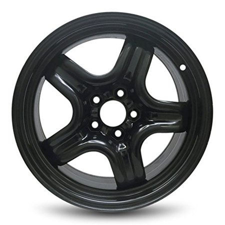 "Road Ready Replacement 17"" Black Steel Wheel Rim 2007-2010 Saturn Aura 5 Lug 4.33"""
