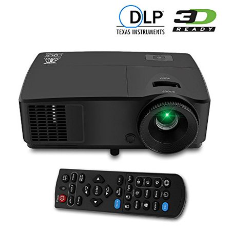 Eug portable hd dlp 3600 lumens high lumens 3d ready for Small projector with high lumens