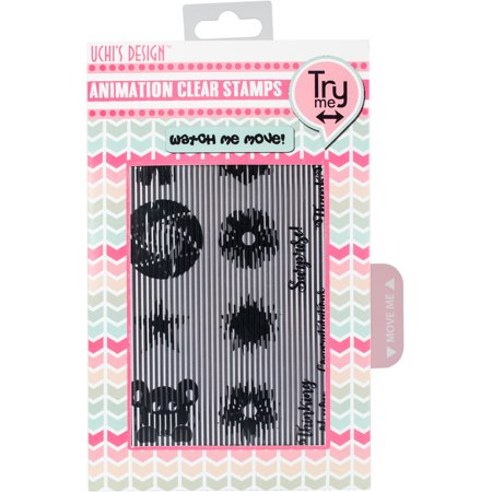 Uchi's Animation Clear Stamps & Grid Set Ballerina