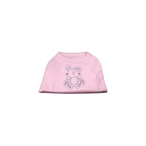 Image of Mirage 52-88 XXXLLPK Bunny Rhinestone Dog Shirt Light Pink 3XL