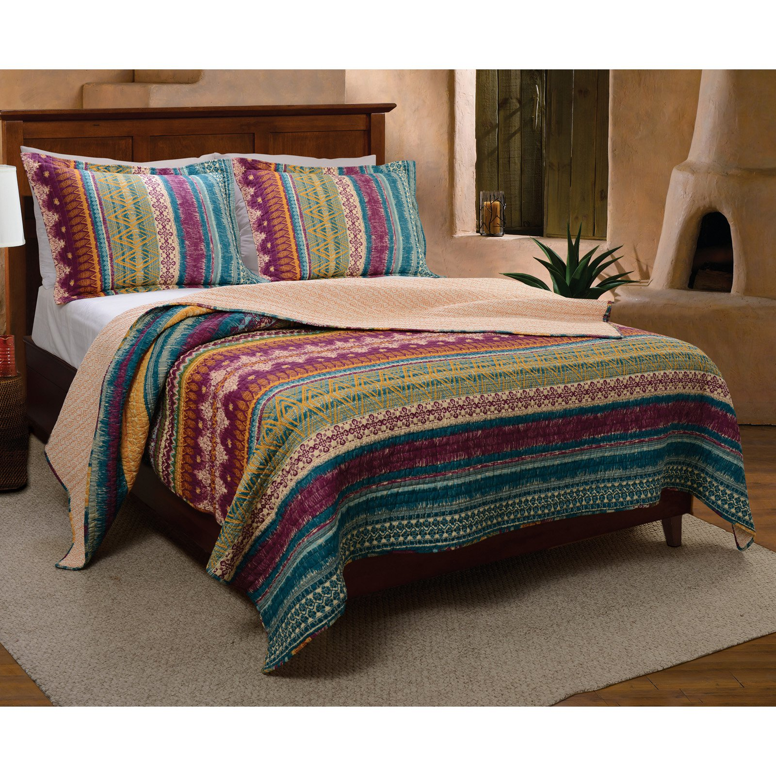 Greenland Home Fashions Southwest Quilt Set by Overstock
