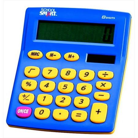 School Smart 084088 Digit Dual Power Primary Calculator, Basic