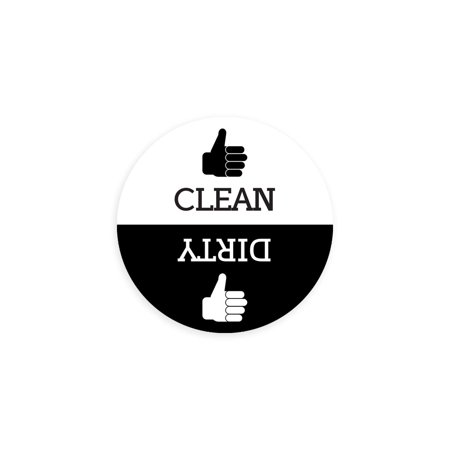 Dishwasher Magnet Clean Dirty Sign - Round Black & White Refrigerator Magnets (Thumbs Up/Thumbs Down - Regular) -  Funny Housewarming Gifts by Flexible Magnets](Thumbs Up And Thumbs Down)