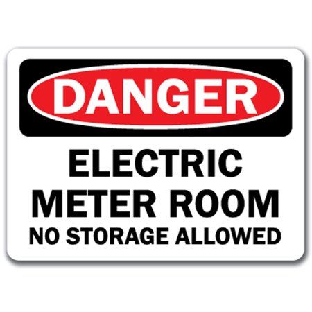 - Danger Sign - Electric Meter Room No Storage Allowed - 10