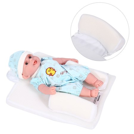 Infant Baby Newborn Sleep Positioner Anti Roll Pillow Prevent Flat