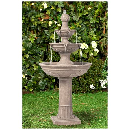 John Timberland Italian Outdoor Floor Water Fountain 48