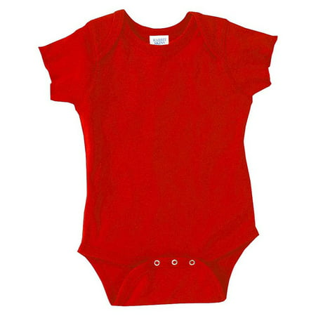 Rabbit Skins 4400 Infant Bodysuit - Red - 6 Months - Blue Onesie For Adults