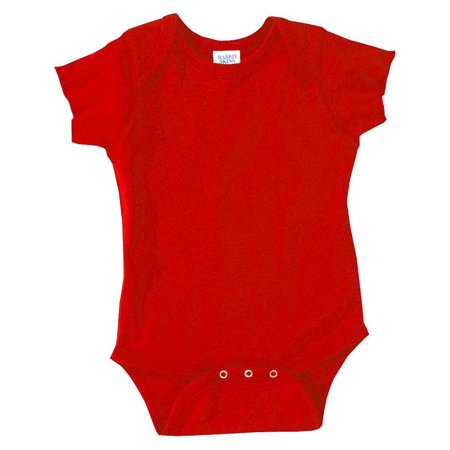 - Rabbit Skins 4400 Infant Bodysuit - Red - 6 Months