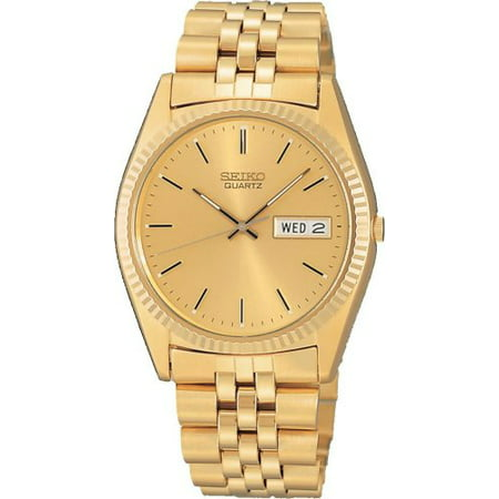 Men's Gold-Tone Analog Stainless Steel Bracelet Watch -