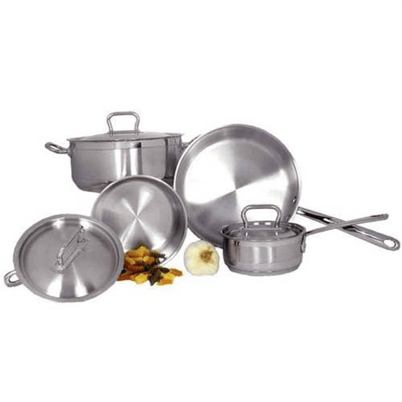 Adcraft SXS-7PC Stainless Steel Deluxe 7 Piece Cookware Set by Admiral Craft