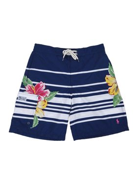 de4c4a29e9 Product Image Polo Ralph Lauren Men's Kailua Stripe/Floral Swim Trunks (S,  Navy)