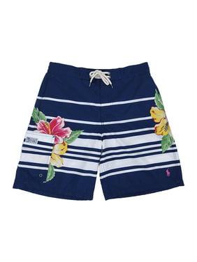 94ed0de241 Product Image Polo Ralph Lauren Men's Kailua Stripe/Floral Swim Trunks (S,  Navy)