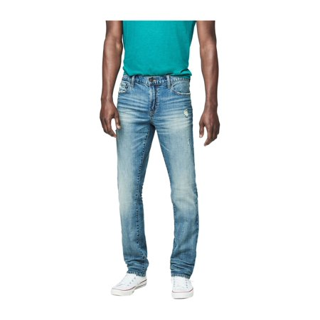 Aeropostale Mens Distress Straight Leg Jeans