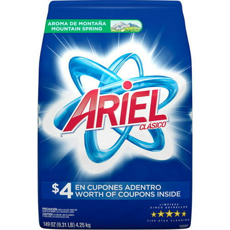 Ariel Clasico Mountain Spring Powder Laundry Detergent, 93 Loads 149 oz
