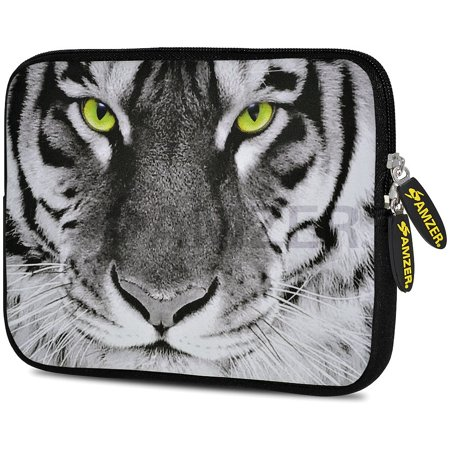Designer 10.5 Inch Soft Neoprene Sleeve Case Pouch for Apple iPad Pro 9.7, iPad 2, iPad 3, iPad 4 (Fit with Smart Case, Folio Covers) - Tiger Eyes