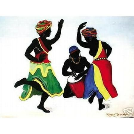 African American History Posters (African American Art Print - Ebony Dancers II Poster New)