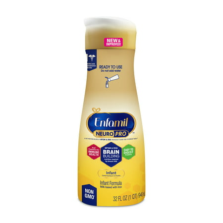- Enfamil Infant NeuroPro Baby Formula, 32 fl oz Ready to Use Liquid
