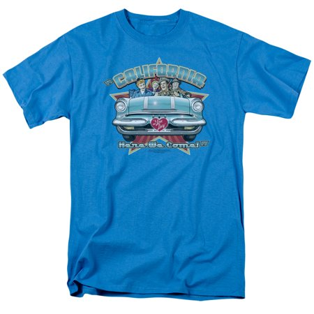 Lucy California Here We Come Mens Short Sleeve Shirt