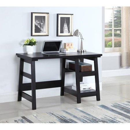 Coaster Writing Desk in Black (2) open shelves