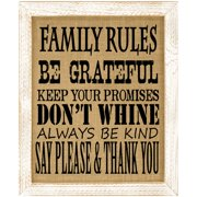 TheWatsonShop 'Family Rules' Framed Graphic Art