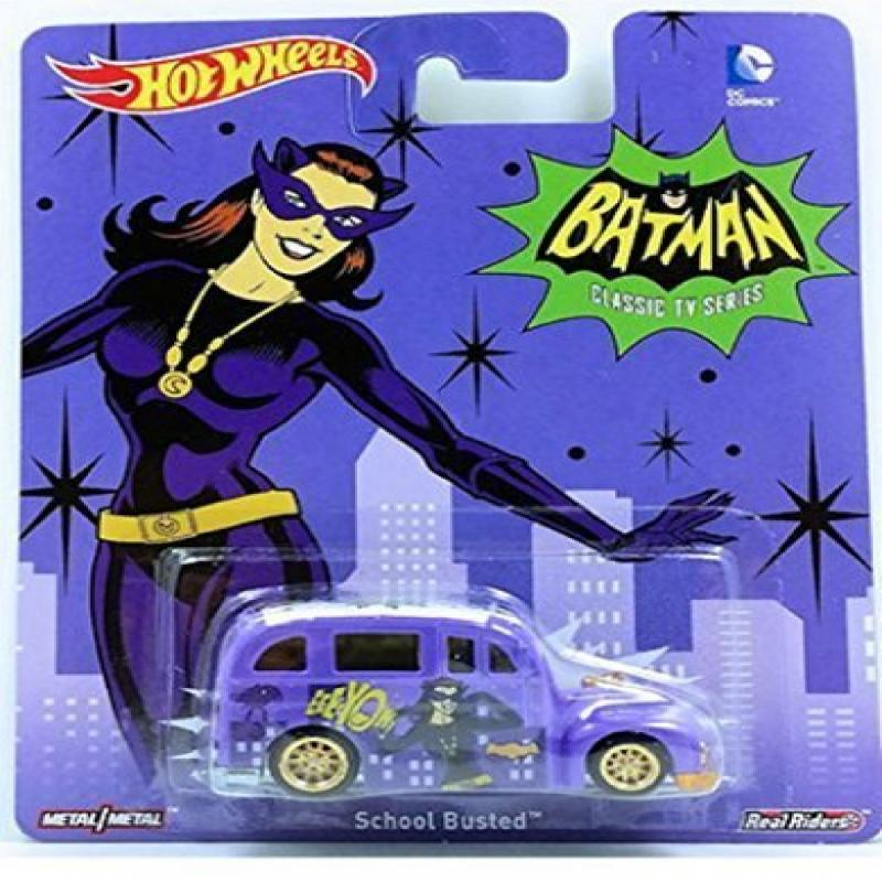 Hot Wheels Batman Classic TV Series Catwoman School Busted Die Cast by