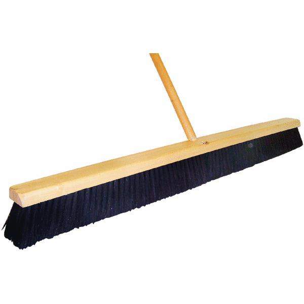 Horsehair Push Broom by DQB Ind.