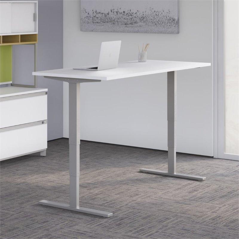 "Scranton & Co 60"" Height Adjustable Standing Desk in White"