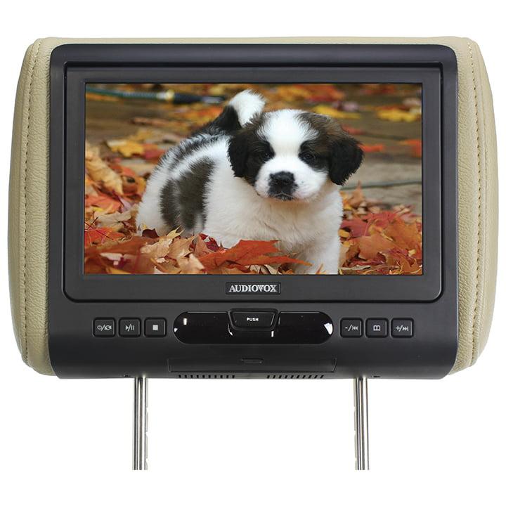 "Audiovox Single 9"" Headrest w/DVDHDMI Input & 3 Color Skins"