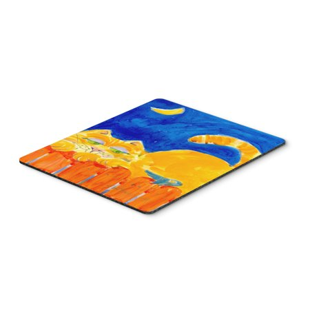 - Orange Tabby Cat on the fence  Mouse Pad, Hot Pad or Trivet