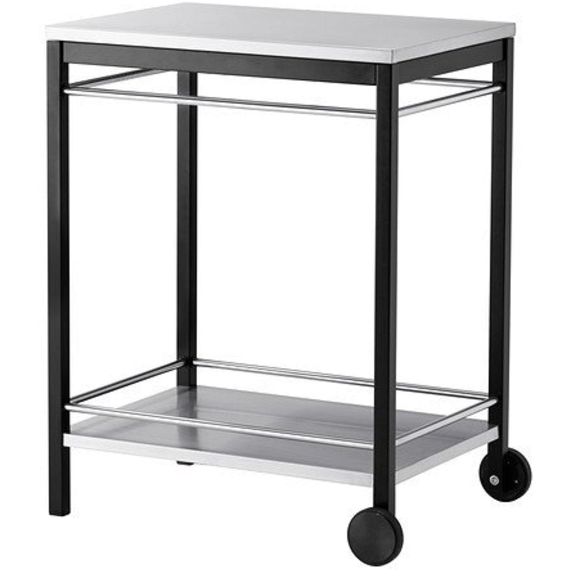 Ikea Serving cart, outdoor, stainless steel black 183838.11526.26