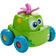 Fisher-Price Press 'N Go Monster Truck with Rolling Motion, Green