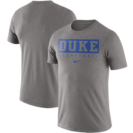 Duke Blue Devils Nike Basketball Practice Legend Performance T-Shirt - Heathered Gray Duke Blue Devils T-shirt