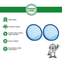 2 Pack for Hoover Primary Blue Sponge Filter for WindTunnel, Elite Rewind and Elite Whole House Bagless Upright Vacuums (compares to 304087001). Washable. Genuine Green Label Product.