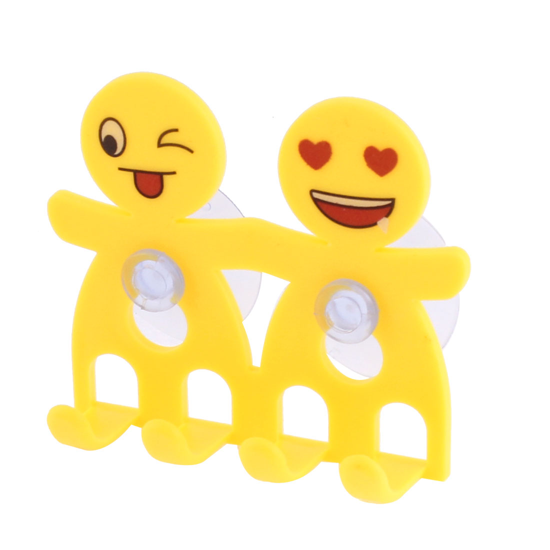 Home Suction Cup Toothbrush Toothpaste Holder Yellow
