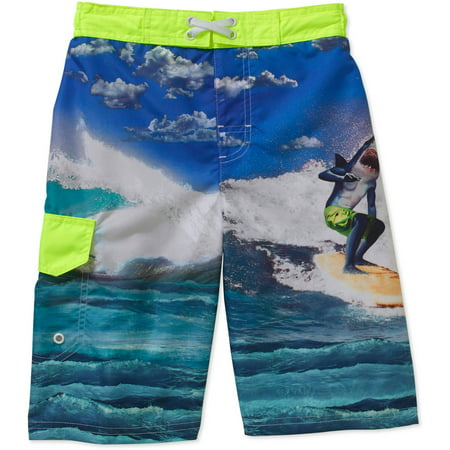 dbb7967cce OP - Boys' Surf Shark Swim Shorts - Walmart.com