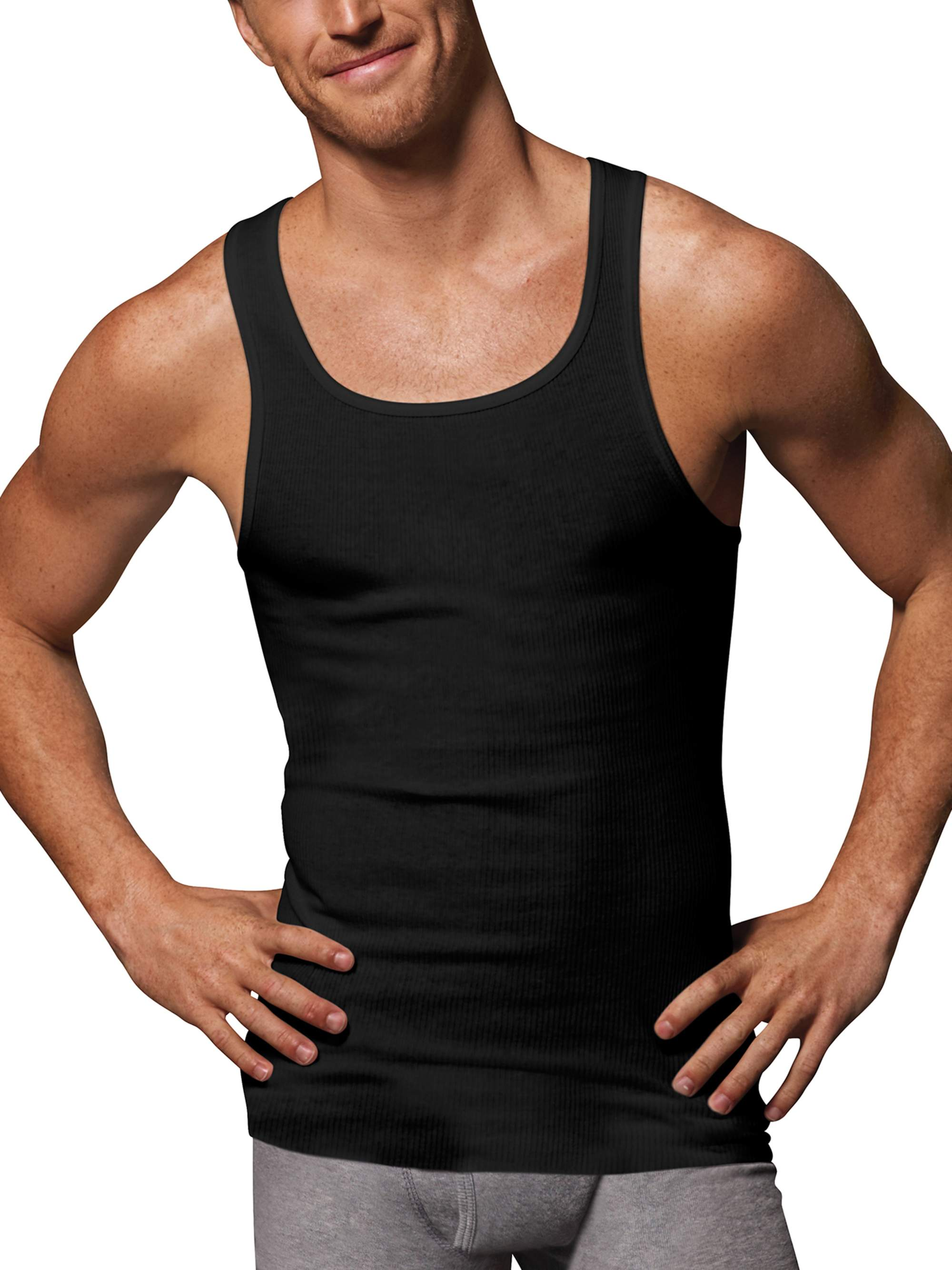 a351230f5fc434 Hanes - Men s Ultimate ComfortSoft Dyed Tank Undershirt