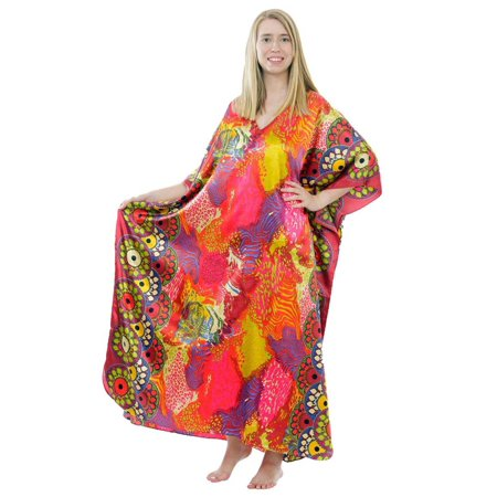 Up2date Fashion's Women's Caftan / Kaftan, Sunset Safari Print