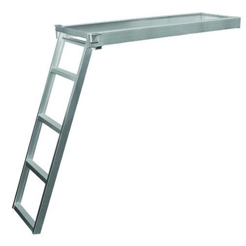 JIF MARINE CSD2-5 5-Step Under Deck Pontoon Ladder Round ...