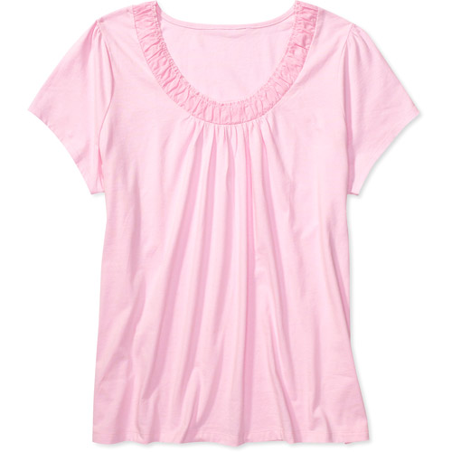 Just My Size Women's Plus-Size Shirred Scoop Tee