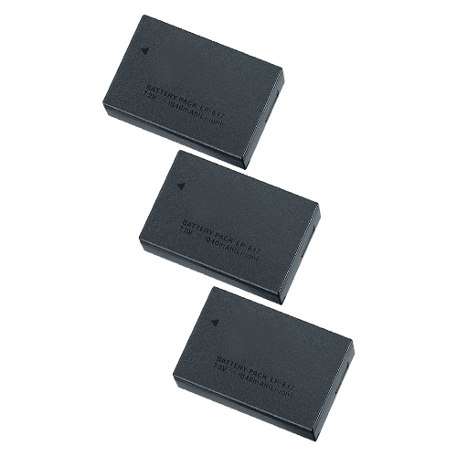 Replacement Battery for Canon LPE17 (3 Pack)
