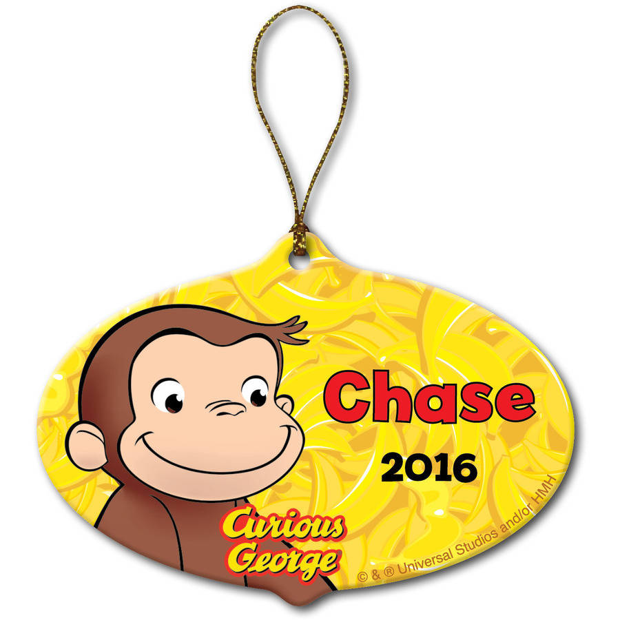 Personalized Curious George Christmas Ornament - Go Bananas