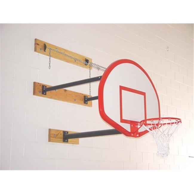 Gared Sports 2350-3040A 3 x 4 ft. Three-Point Wall Mount Series Extension Fan Shaped Board for Adjust-a-Goal